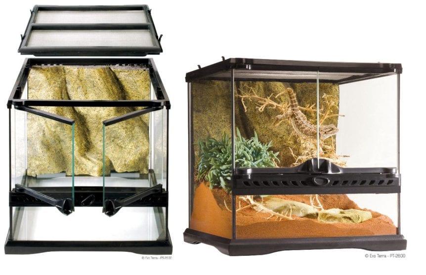 Exo Terra Glass Terrarium 90cm X 45cm X 60cm Redwood Aquatics