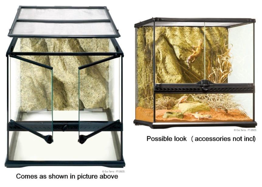 Exo Terra Glass Terrarium 60cm X 45cm X 45cm Redwood Aquatics